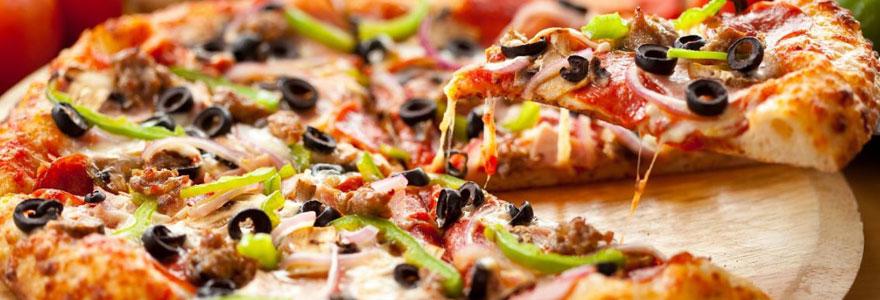 manger une pizza